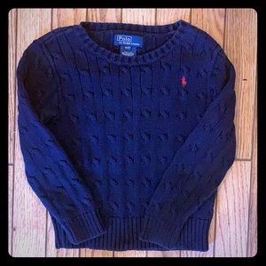 POLO 4T Cable Knit Pullover Sweater